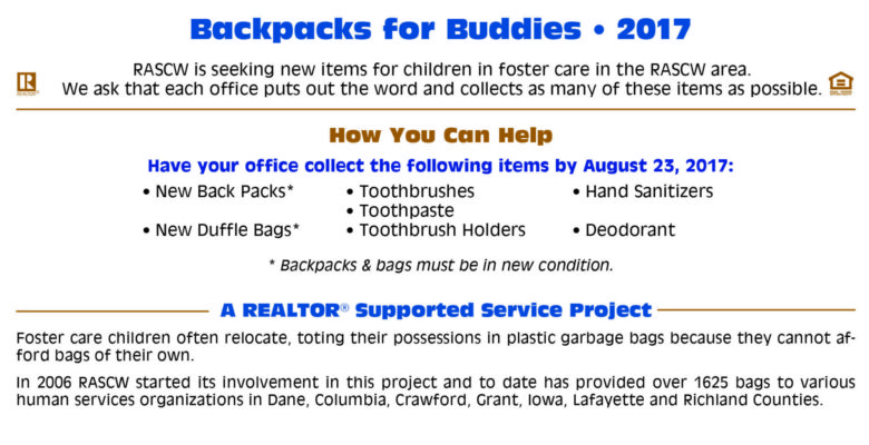 Backpacks for Buddies