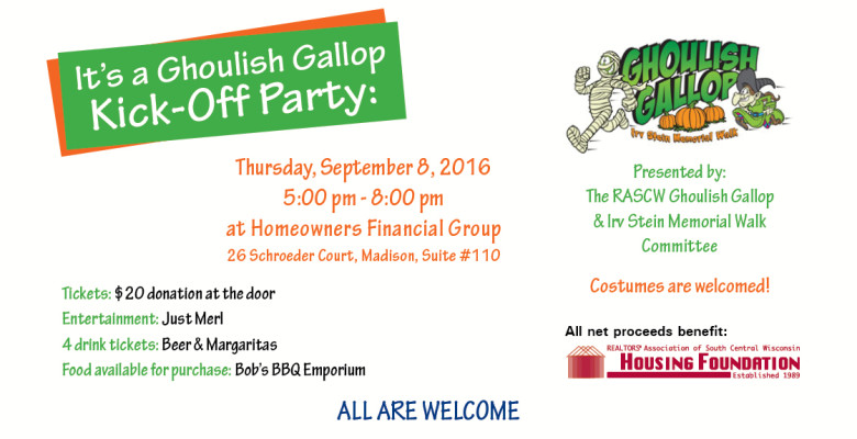 Ghoulish Gallop Kick-Off Party